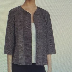 NWT Eileen Fisher Dot Knit Open Front Jacket